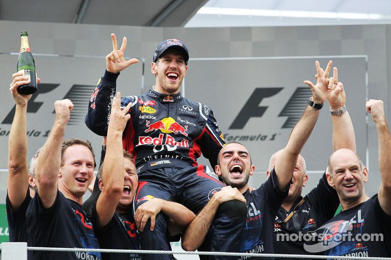 2012: De hattrick van Vettel en Red Bull