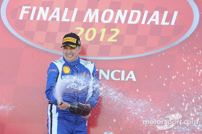 Finali Trofeo Pirelli podium: race winner Alessandro Balzan