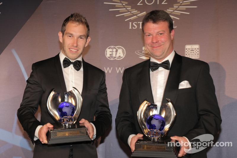Стефан Прево и Крис Эткинсон. Церемония награждения FIA, Стамбул, Турция, Особое мероприятие.