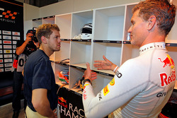 Sebastian Vettel and David Coulthard