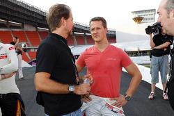 ROC founder Fredrik Johnsson and Michael Schumacher