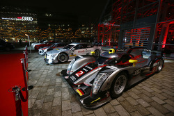 Audi cars on display