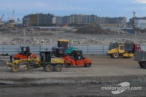 Construction of Sochi F1 track