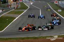 Jos Verstappen and Eddie Irvine