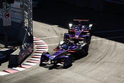 Sam Bird, DS Virgin Racing, leads Jose Maria Lopez, DS Virgin Racing