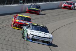 Blake Koch, Kaulig Racing Chevrolet and Ty Majeski, Bit O Honey Ford Mustang