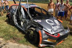 Ford Fiesta R5 Олексія Лук'янюка після аварії