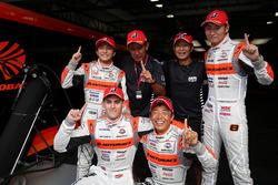 GT500 polesitters #8 Autobacs Racing Team Aguri Honda NSX Concept GT: Tomoki Nojiri, Takashi Kobayashi, GT300 polesitters #55 Autobacs Racing Team Aguri BMW M6 GT3: Shinichi Takagi, Sean Walkinshaw