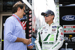 Kevin Harvick, Stewart-Haas Racing Ford and Ron Fellows