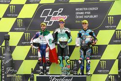 Podyum: Yarış galibi Joan Mir, Leopard Racing, second place Romano Fenati, Marinelli Rivacold Snipers, third place Aron Canet, Estrella Galicia 0,0