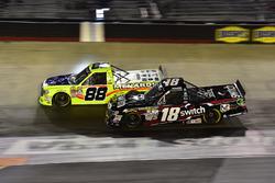 Matt Crafton, ThorSport Racing Toyota, Noah Gragson, Kyle Busch Motorsports Toyota