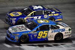 Michael McDowell, Leavine Family Racing Chevrolet, Chase Elliott, Hendrick Motorsports Chevrolet