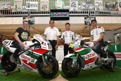 Lucio Cecchinello, directeur du Team LCR Honda, Cal Crutchlow, Team LCR Honda, Aaron Slight
