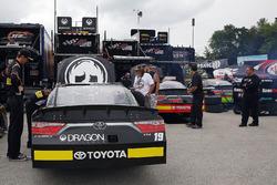 Matt Tifft, Joe Gibbs Racing Toyota, Christopher Bell, Joe Gibbs Racing Toyota and James Davison, Joe Gibbs Racing Toyota