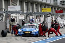 Pit stop, Loic Duval, Audi Sport Team Phoenix, Audi RS 5 DTM