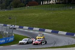 Nico Müller, Audi Sport Team Abt Sportsline, Audi RS 5 DTM, Gary Paffett, Mercedes-AMG Team HWA, Mercedes-AMG C63 DTM, Timo Glock, BMW Team RMG, BMW M4 DTM