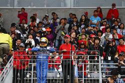 A fan in Ayrton Senna costume