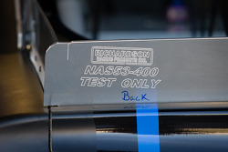 Rear spoiler detail on the Aric Almirola, Richard Petty Motorsports Ford