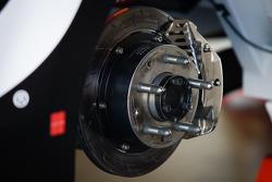 Car of Juan Pablo Montoya, Earnhardt Ganassi Racing Chevrolet, brake detail