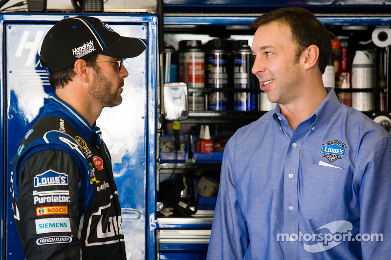 Jimmie Johnson, Hendrick Motorsports Chevrolet and Chad Knaus