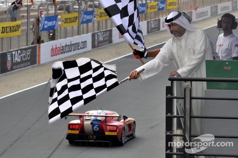 #6 VDS Adventures VDS GT 001-R: Raphael van der Straten, Benjamin Bailly, Erik Qvick, Jose Close takes the checkered flag