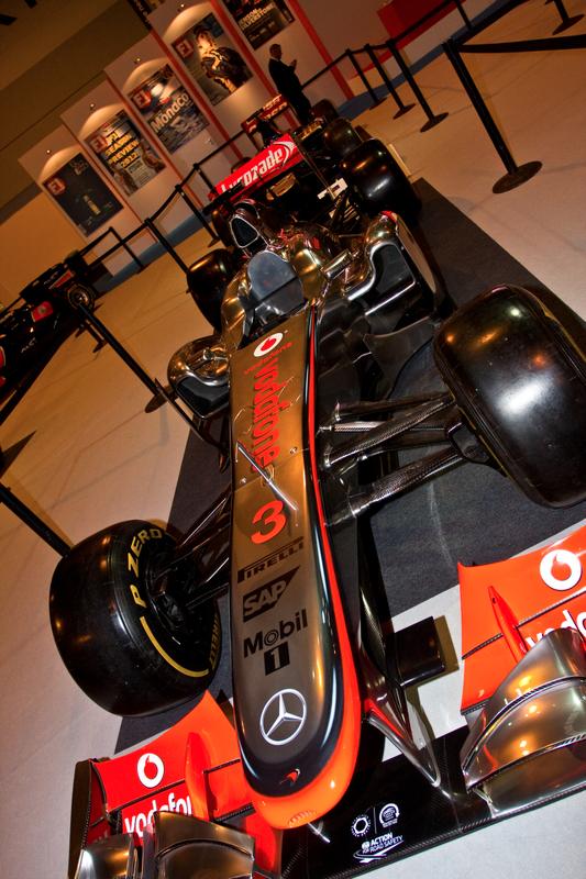 Mclaren 2012 F1 na vitrine