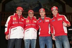 Fernando Alonso and Felipe Massa, Scuderia Ferrari and Andrea Dovizioso and Nicky Hayden, Ducati Marlboro Team