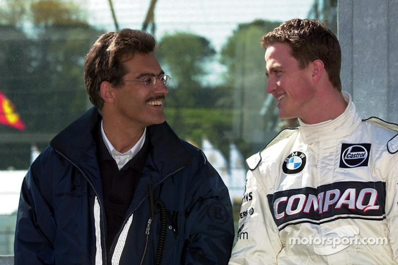 Dr. Mario Theissen, jefe de BMW Motorsport y Ralf Schumacher