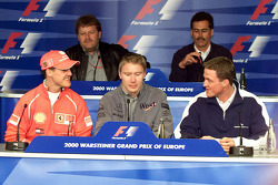 Michael Schumacher, Mika Hakkinen, Norbert Haug, Ralf Schumacher, Dr. Mario Theissen