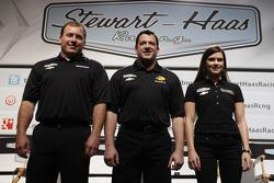 Ryan Newman, Tony Stewart, Danica Patrick, Stewart-Haas Racing Chevrolet
