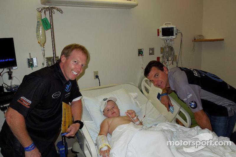 B+ Foundation drivers visit children's hospital