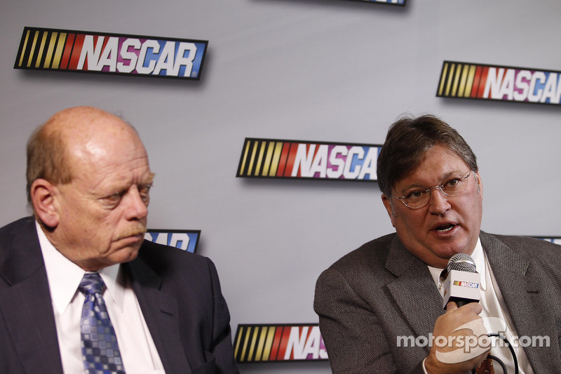 John Darby, Managing Director of Competition Director of NASCAR and Robin Pemberton, Vice President for Competition of NASCAR