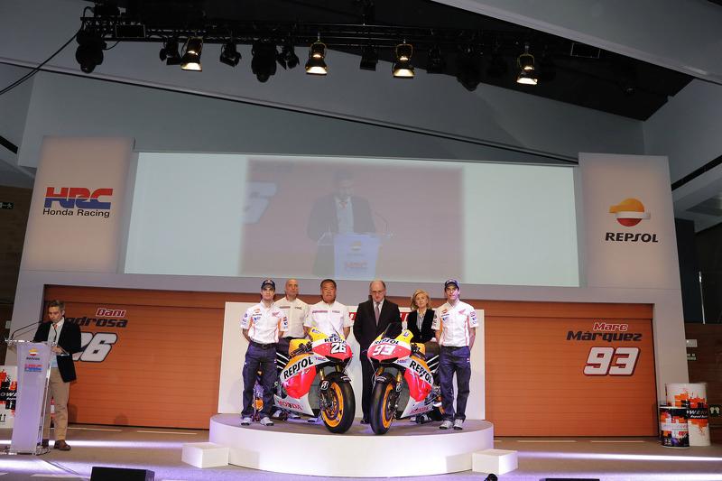 Дани Педроса и Марк Маркес. Презентация Repsol Honda 2013, презентация.