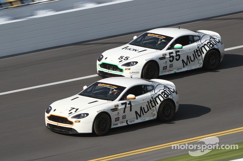 #71 Multimatic Motorsports Aston Martin Vantage: Tonis Kasemets, Michael Marsal en #55 Multimatic Mo