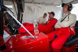 Michael Waltrip, Clint Bowyer and Robert Kauffman