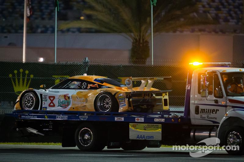 #8 Starworks Motorsport Ford Riley: Gaetano Ardagna, Jan Charouz, Brendon Hartley, Scott Mayer, Ivan Bellarossa in de problemen