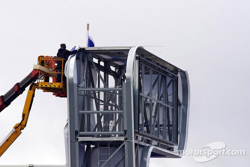 Строительство башни-табло Michelin, особое событие.