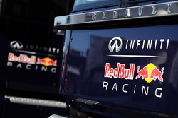 Red Bull Racing trucks and logos