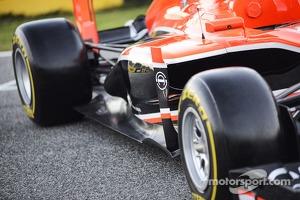 Marussia F1 Team MR02 sidepod detail