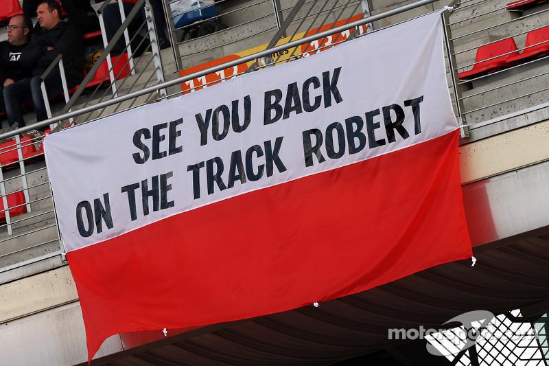 Banner for Robert Kubica (POL)