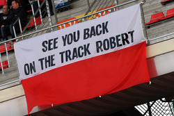 Banner for Robert Kubica (POL)
