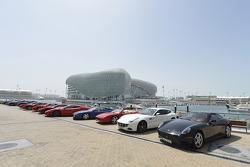 A line up of Ferraris