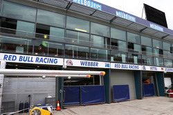 Red Bull Racing pit garages