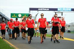 Max Chilton, Marussia F1 Team walks the circuit