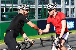 Sir Chris Hoy, Olympic Track Cycling Champion ve Paul di Resta, Sahara Force India F1