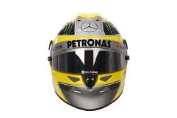 The helmet of Nico Rosberg, Mercedes AMG F1