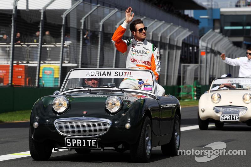 Adrian Sutil, Sahara Force India F1 bij de rijdersparade