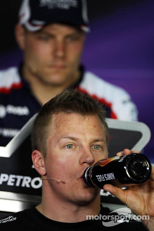 Kimi Raikkonen, Lotus F1 Team e Valtteri Bottas, Williams na Coletiva da FIA