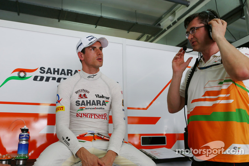 Adrian Sutil, Sahara Force India F1 met Bradley Joyce, Sahara Force India F1 Race Engineer