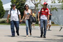Felipe Massa, Ferrari with his parents